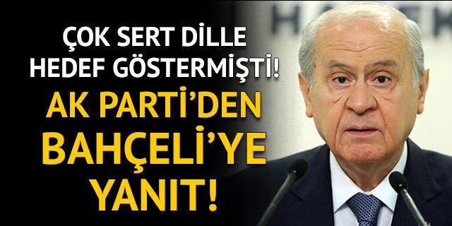 Bahçeli'nin Kayseri'deki konuşmasına AK Parti'den yanıt!