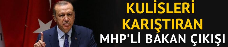 Kulisleri karıştıran 'MHP'li bakan' çıkışı
