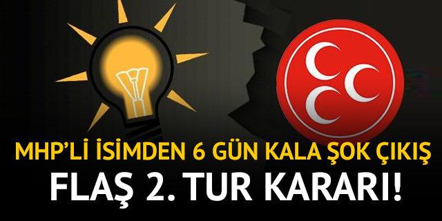 MHP'li milletvekilinden flaş 2.tur açıklaması: Erdoğan'ın karşısındaki adayı destekleyeceğim