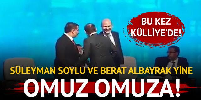 Süleyman Soylu ve Berat Albayrak birbirlerine yine omuz attı!