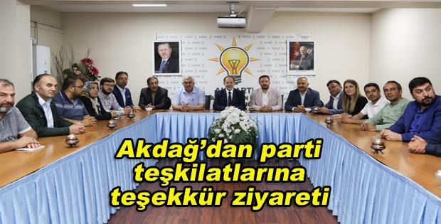 Akdağ'dan parti teşkilatlarına teşekkür ziyareti