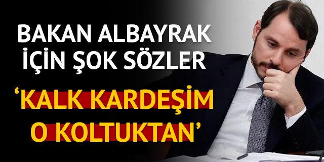 Abdüllatif Şener'den Berat Albayrak'a: Kalk kardeşim o koltuktan