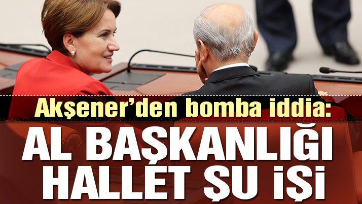 """Referandum """"Al başkanlığı hallet Meral'i"""" anlaşmasıdır"""