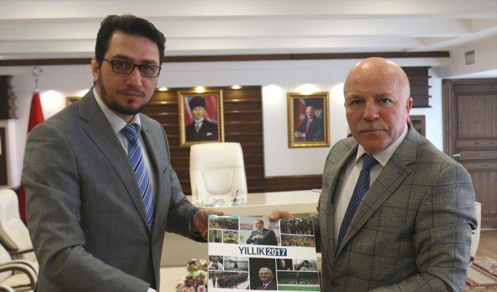 Başkan Sekmen, AA'yı ziyaret etti
