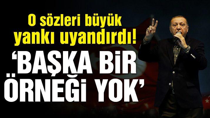 Cumhurbaşkanı Erdoğan'ın o sözleri büyük yankı uyandırdı