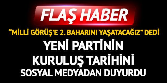Yeni parti kuruluyor! Fatih Erbakan tarih verdi