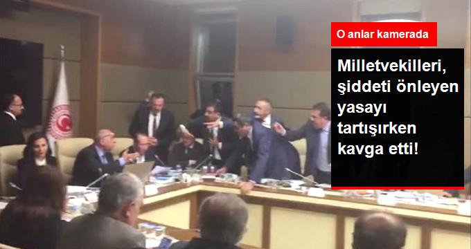 Milletvekilleri, Şiddeti Önleyen Torba Yasayı Tartışırken Kavga Etti