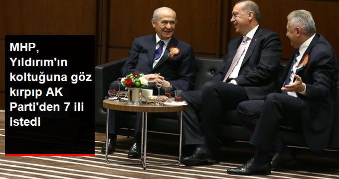 MHP, AK Parti'den 7 İli ve TBMM Başkanlığını İstiyor