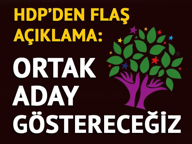 HDP'den İzmir açıklaması: Ortak aday çıkaracağız