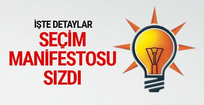AK Parti seçim manifestosu sızdı detaylar ortaya çıktı