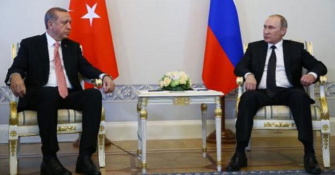 Erdoğan ve Putin'in konu başlıkları belli oldu