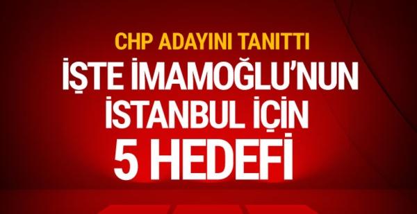 CHP İstanbul adayını tanıttı! Kılıçdaroğlu ve İmamoğlu'ndan flaş açıklamalar