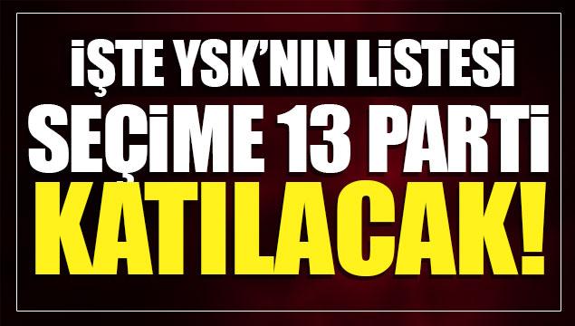 YSK açıkladı yerel seçimlere 13 parti katılabilecek