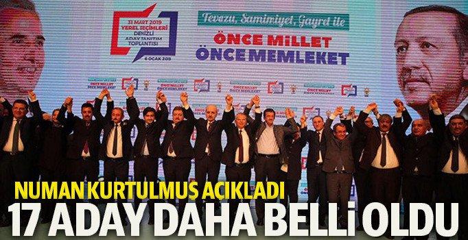 AK Parti'de 17 aday daha açıklandı