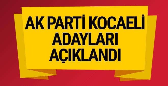 AK Parti Kocaeli adayları açıklandı