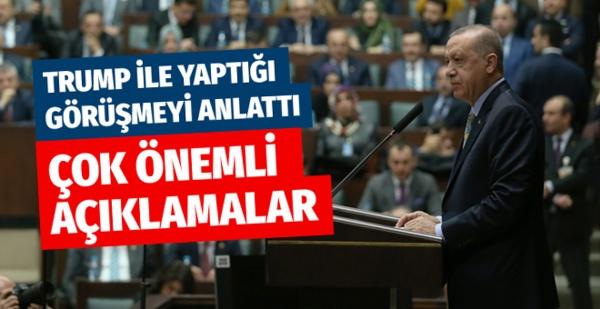 Cumhurbaşkanı Erdoğan Trump'ın olay mesajı hakkında ilk kez konuştu