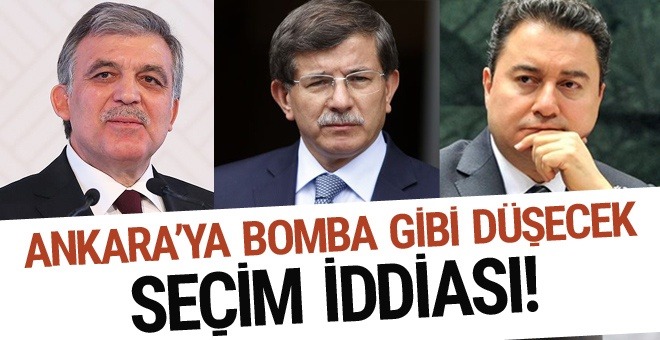 Ankara'yı sallayacak Abdullah Gül iddiası! Davutoğlu Babacan...